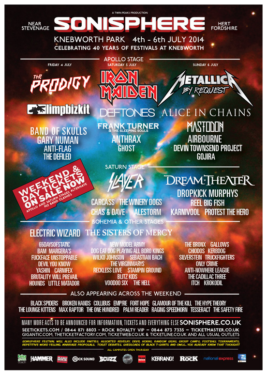 12 More Bands Announced For Sonisphere Festival - Kerrang!