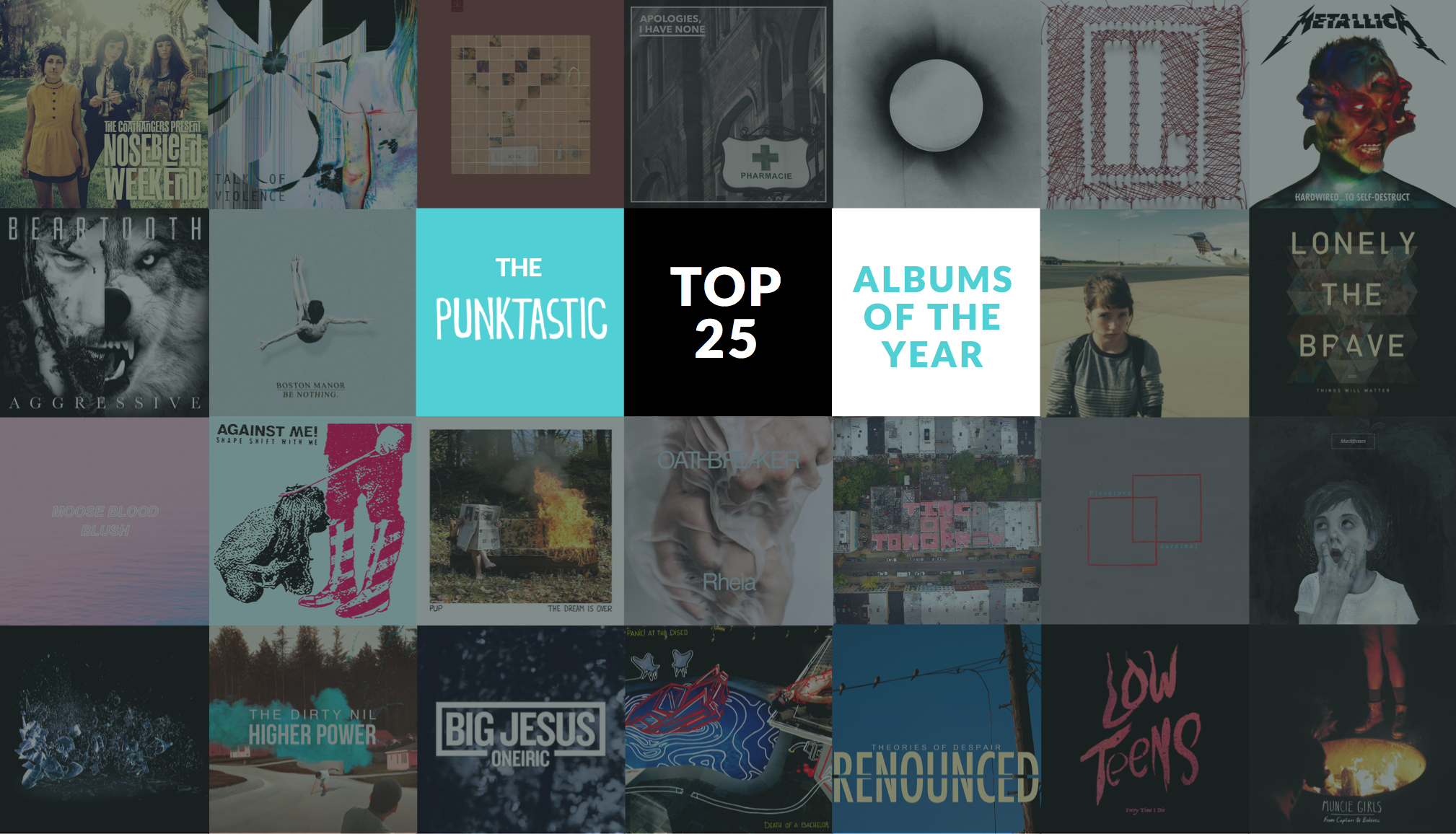 Top 25 Albums of the Year
