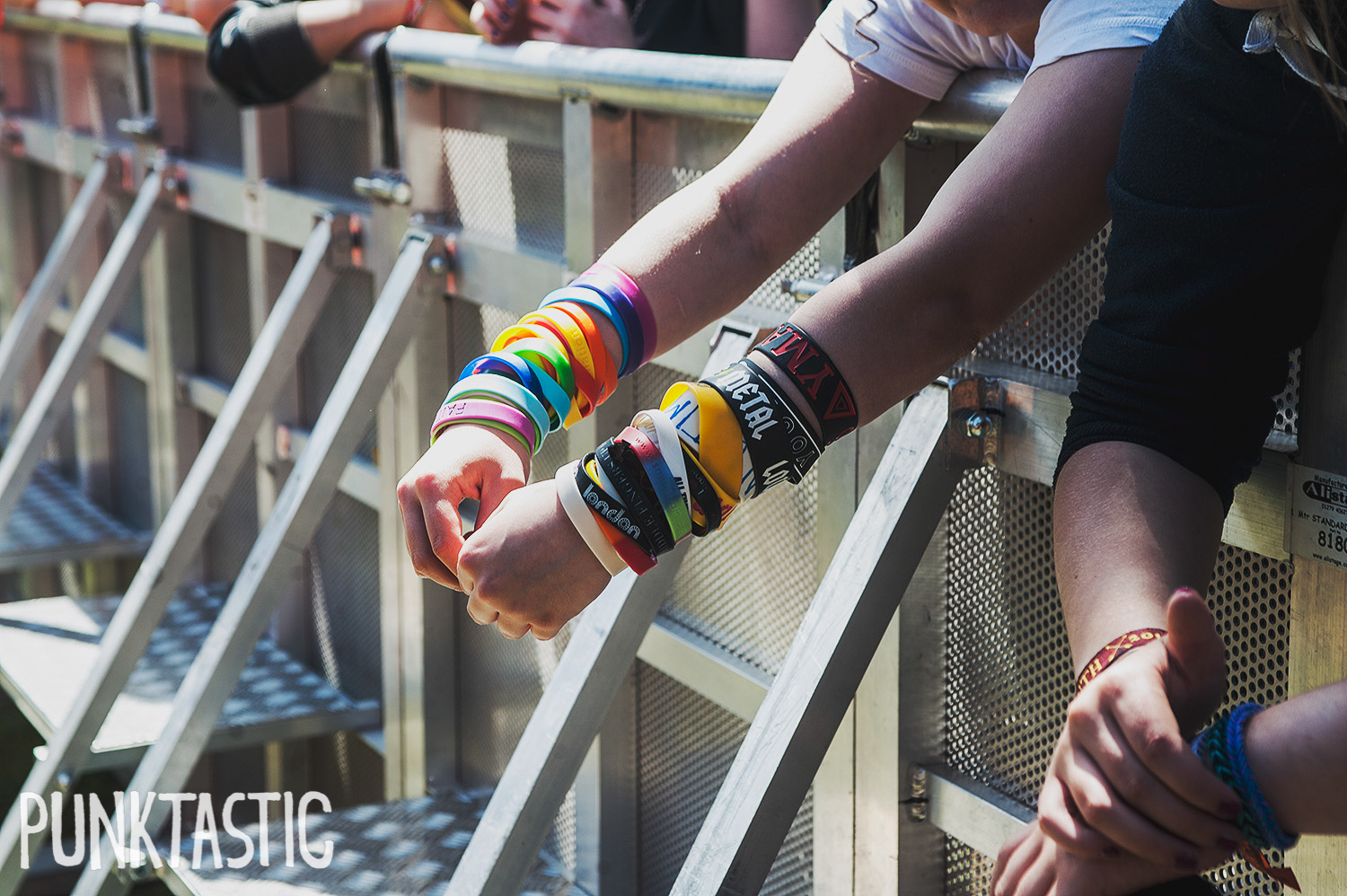And so it begins.... ALL OF THE WRISTBANDS. A wristband rainbow.