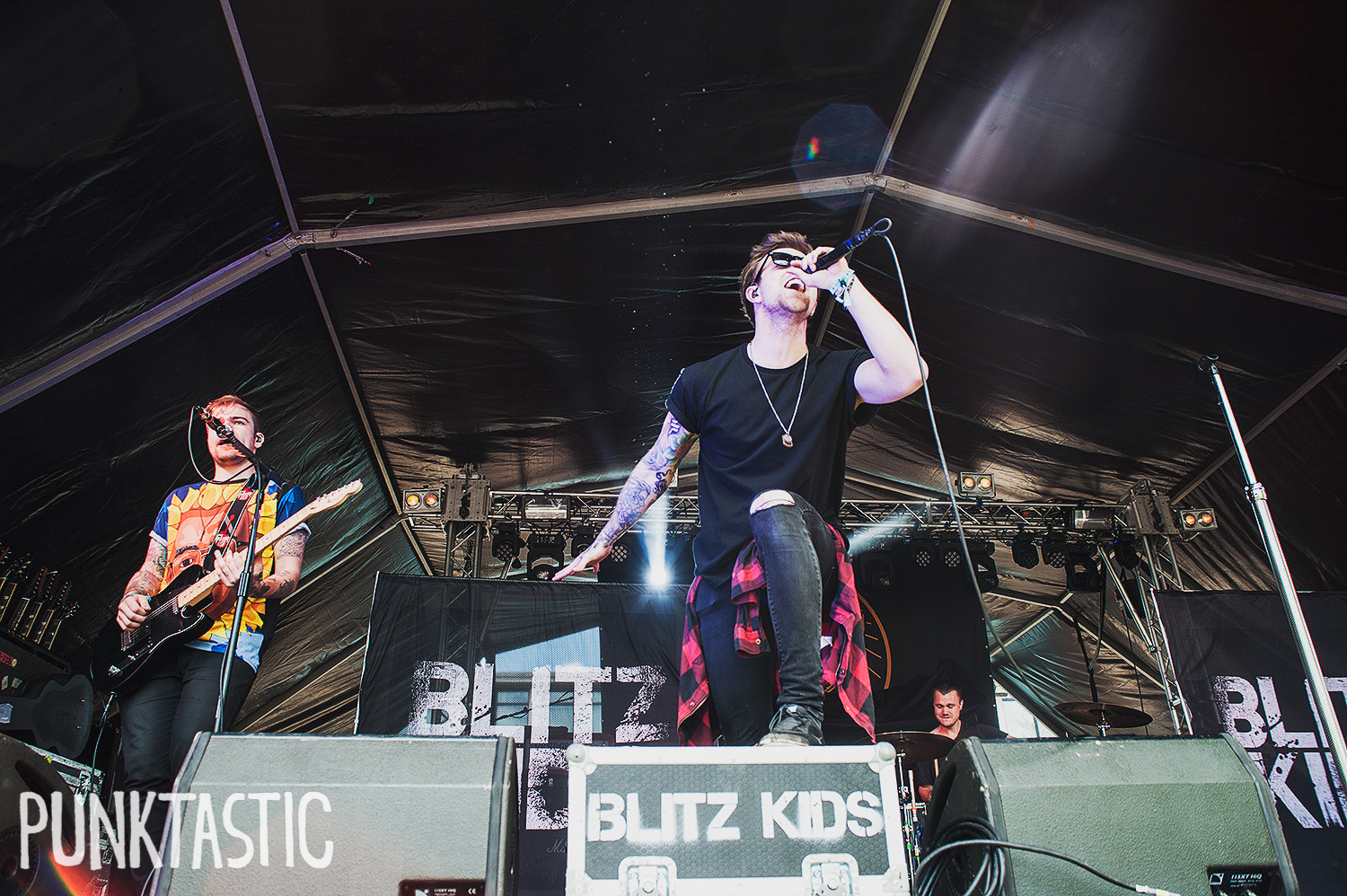 Blitz Kids opening up Main Stage.